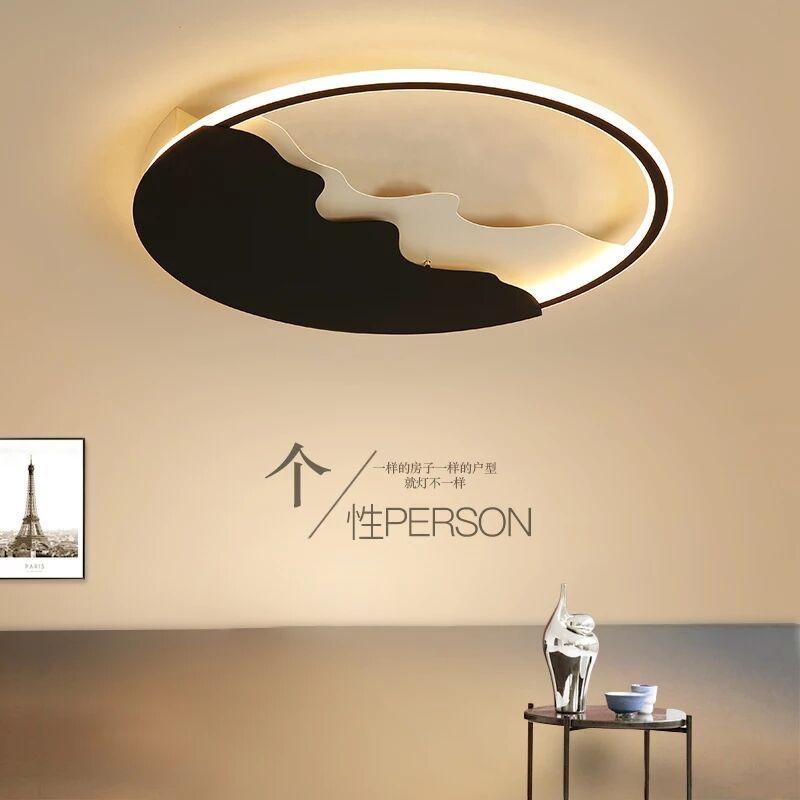 Lustre Black Round Ceiling Lights For Living Room Bedroom