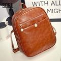 Preppy Style Leather Backpacks Hot Sale Women Shopping Clutch Designer Fresh Casual Girls Backpacks Candy Shoulders Bags H003