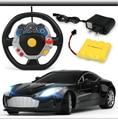 Rc Niños la gravedad de detección luces de carga del coche de control remoto de coches de control remoto en el volante de carreras de coches de juguete