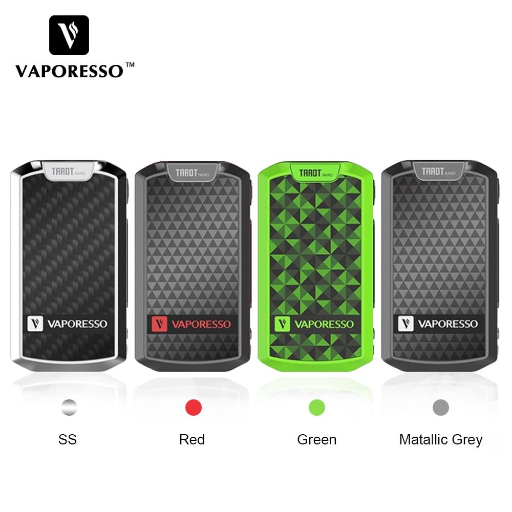 Original Vaporesso Tarot Nano 80W TC Box MOD Built in 2500mAh Battery Electronic Cigarette Vape Mod for VECO EUC Tank 2ml
