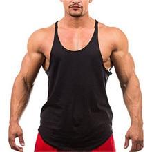 54925106de10d Muscleguys Blank Bodybuilding stringer tank top mens solid color Y back vest  gyms singlets fitness clothing
