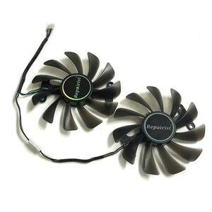 Image 4 - 2 יח\סט וידאו כרטיסי מאוורר GTX1070/1080 GPU Cooler עבור KFA2 GTX1070 Ti EX GTX 1080/1070 EXOC גרפיקה כרטיס קירור כתחליף