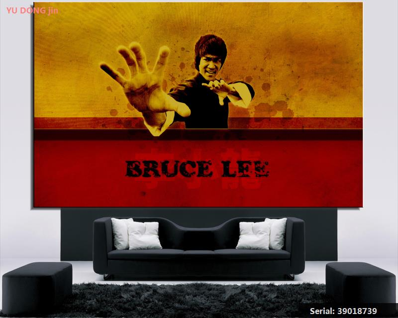 Bruce Lee Portrait Classical Oil Painting Drawing Art Spray Unframed Canvas Children Design Action Figure Gemstone Wax39018739 Attractive And Durable Home Decor