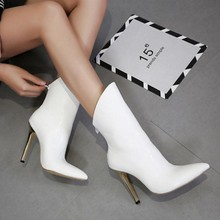 2018 spring and autumn women's boots, pointed boots, white high heels, fashion boots, fashion women's shoes.
