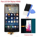 For LG G4 Stylus H540 Black LCD Display Touch Screen with Digitizer Assembly Replacements + Tempered Glass Film + Tools