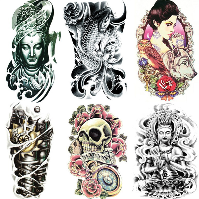 19x12 Cm Venta Al Por Menor Tatuaje Pegatinas Impermeable Mujer