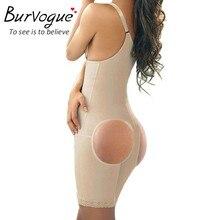 Burvogue Женщины Боди Черный Full Body Shaper Потеря Веса Для Похудения Body Талия Shaper Пластика Триммер Underwear Butt Lifter Фирмы