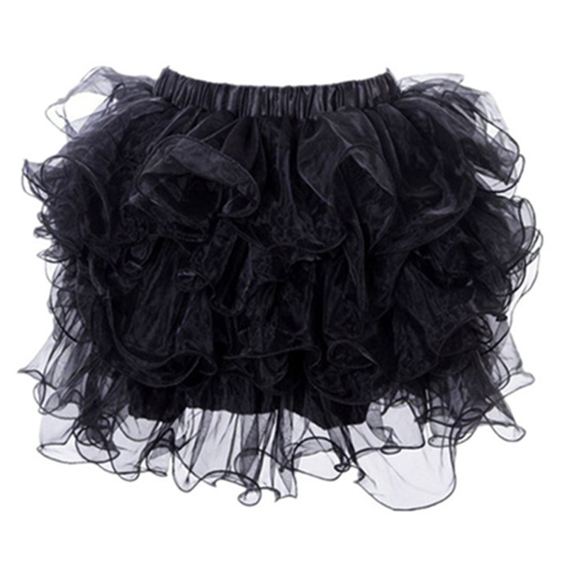 Plus Size M-XXL 2016 Adults Women Layered Ruffles Sexy Mini Tutu Underskirt Pettiskirts For Matching Corset