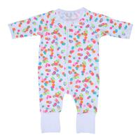 2017 Autumn Newborn Boy Girl Clothes Baby Romper Cute One Piece Long Sleeve White Romper Colorful Dot Printed Jumpsuit Outfits