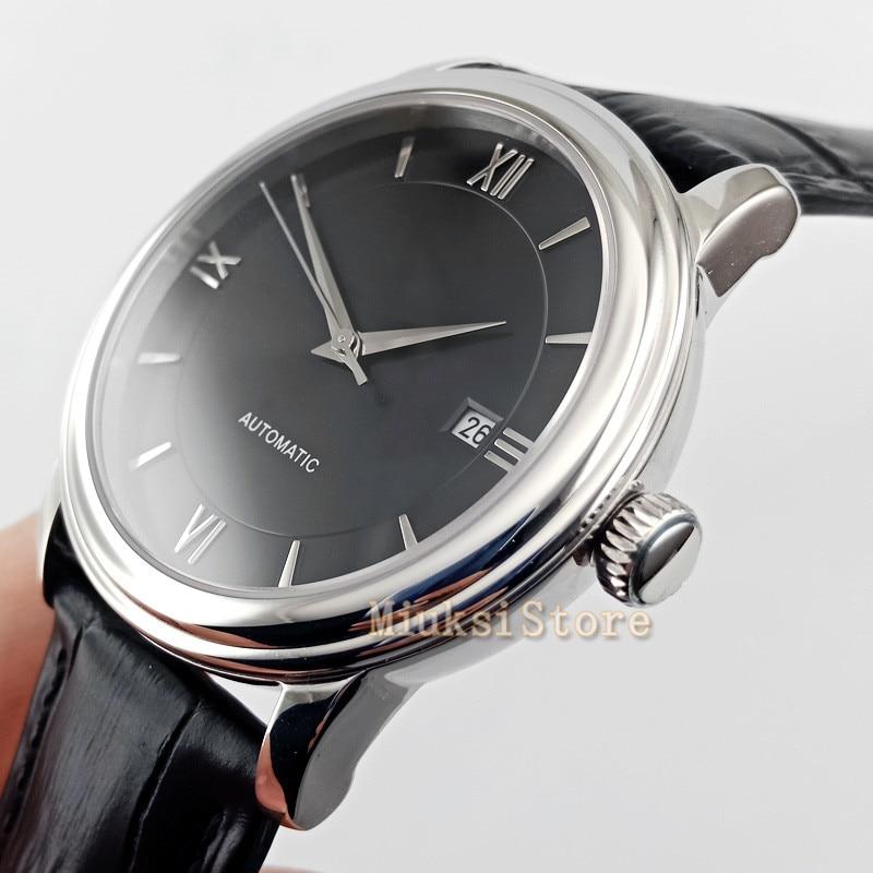 2019 luxury black top watch 41mm Relogio Masculino Mens Sports Clock Analog date window fashion simplicity Quartz Wrist Watches