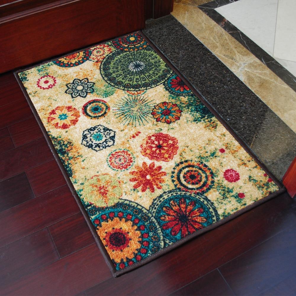 Great Yazi Country Floral Kitchen Rug Anti Slip Backing Floor Carpet Door Mat  50x80cm(China (