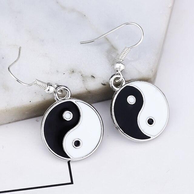 Women's Ying Yang Drop Earrings 4