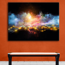 Huge Size paint line bends glow wall picture wall painting for home decor ideas print on canvas oil painting no frame(China)