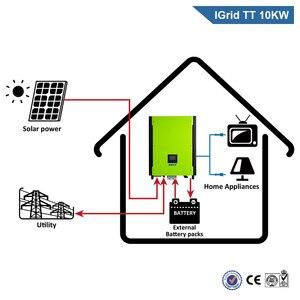 Image 2 - EASUN POWER 10KW Solar Inverter 48V 380V Grid Tie Inverter 3 Phase On Grid Off Grid  Inverter With Max Solar Power 14850W MPPT