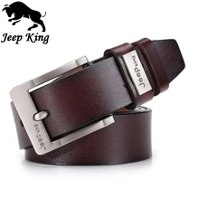 Jeepking Cowhide Genuine Leather Designer Men Belts Brand Strap Male Pin Buckle Fancy Mens Belts Vintage Masculinos Jeans Cintos