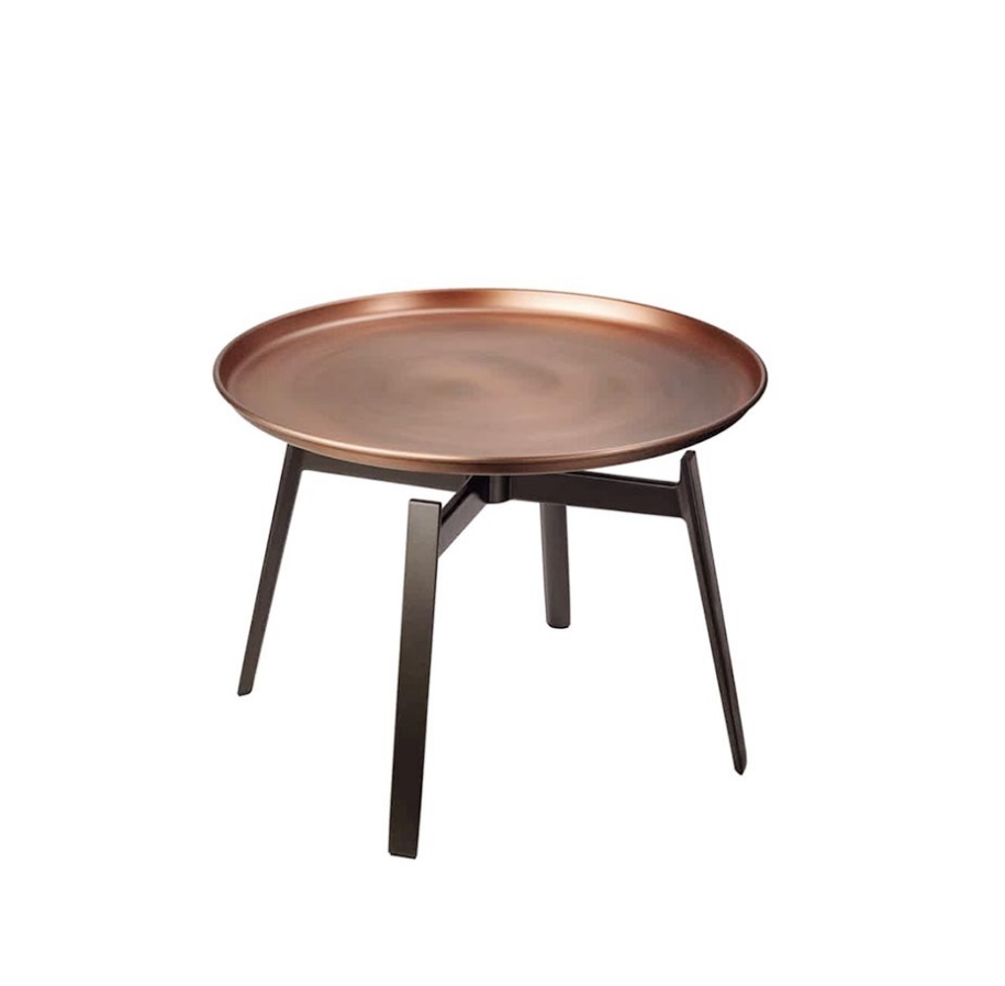 48cm High Coffee Table with Metal Tray / 55cm Circular Desk 48cm High Coffee Table with Metal Tray / 55cm Circular Desk