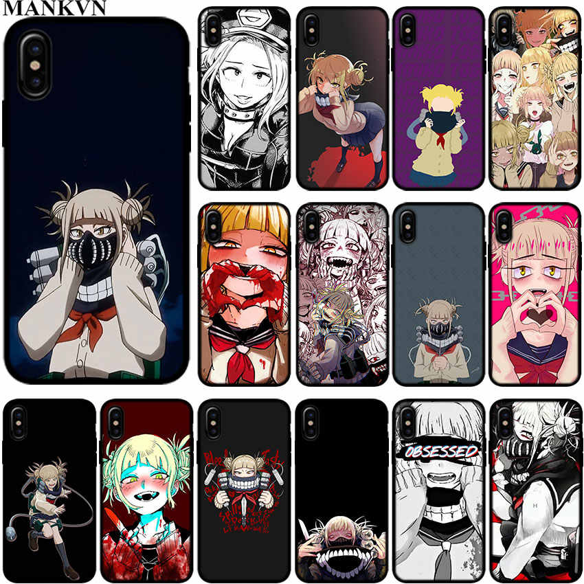 6b815cf5b4021 cartoon Toga Himiko girl Black Silicone phone Cases for Apple iPhone 6 6S 7  8 Plus X XR XS MAX 5S SE Soft TPU case cover