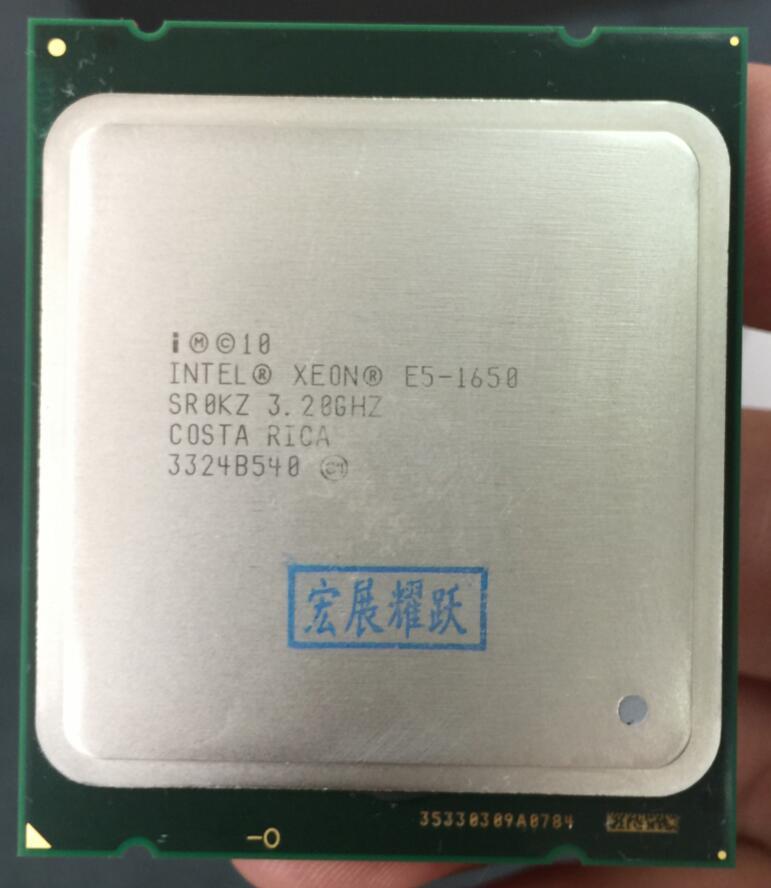 PC Intel Xeon Processeur E5 1650 E5-1650CPU (12 m Cache, 3.20 ghz, IntelQPI) LGA 2011 SR0KZ C2 Livraison AliExpress Standard gratuite