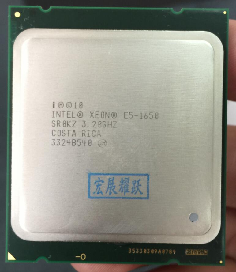 PC Intel Xeon Processor E5 1650 E5-1650CPU (12M Cache, 3.20 GHz,  IntelQPI) LGA 2011 SR0KZ C2 Free AliExpress Standard Shipping