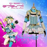 Hot Anime LoveLive! Ayase Eli Cospaly Costumes Crayons/Painters Awakening Uniform Dress XS XXL In Stock Or Custom MaKe Any Size