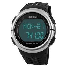 Skmei Pedometer Step Walking Heart Rate Monitor Calorie Counter Countdown 50M waterproof  Sports smart Watch relogios clock