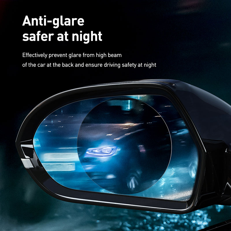 Image 3 - Baseus 2 Pcs 0.15mm Car Rearview Mirror Window Clear Film Anti Fog Window Foils Rainproof Protective Car Sticker-in Car Stickers from Automobiles & Motorcycles