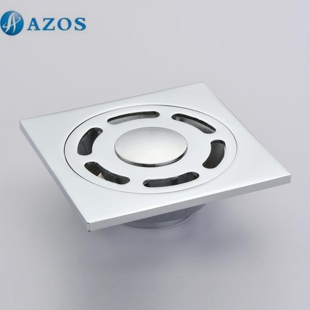 Brass Chrome Polish Toilet Floor Drain Strainer Grates Waste Bathroom  Shower Ground Overflow Fitting PJDL004