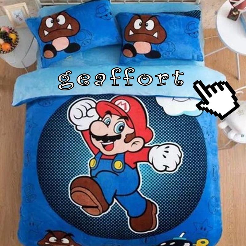 Edredon De Mario Bros.Cartoon Super Mario Brothers Ninos Decoracion De La Habitacion 3