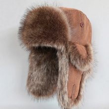 Winter Men Bomber Hat Wind Proof Russian Ushanka Snow Ski Ca
