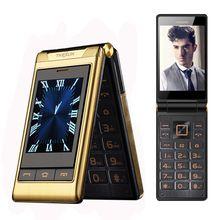 Large Touch Display 3G WCDMA Flip Senior Mobile Phone SOS Quick Dial Russian Key Whatsapp Facebook For Elderly Unlock Tkexun