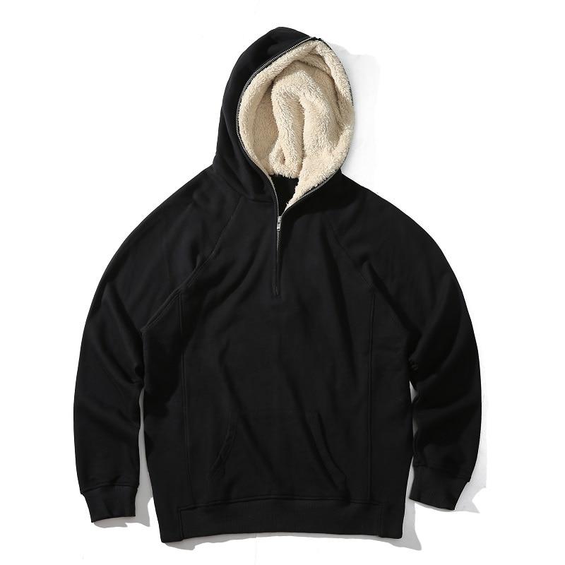 Latest TOP Kanye West SEASON oversized pullover hoodie hip hop FEAR OF GOD HBA MEN Extended Middle Zip Sweatshirt мужская толстовка thumbholes zip kanye west tyga pyrex hba yeezus