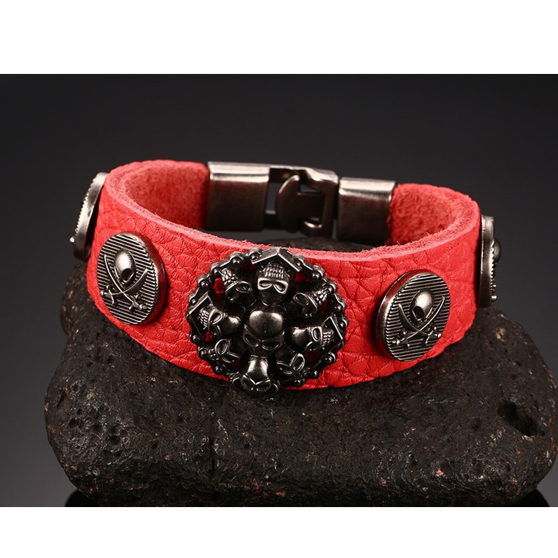 Punk Rock Bracelets Antique...