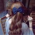 Новый Дизайн Луки Волос Заколки Мода Большой Твердые Ткани Аксессуары для Волос для Женщин Девушка Свадебные Украшения Для Волос
