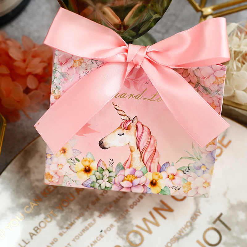 10 шт/партия высококлассные европейские конфеты мешок милый Единорог свадебный подарок коробка пакет день рождения любимые пакеты Подарочная коробка поставки