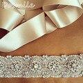 Correa de la boda, Cinturón nupcial, Cinturón faja, diamantes de Imitación de cristal Perlas apliques mujeres pretina ancha