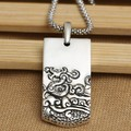 Handmade S925 pure silver Dragon pendant vintage thai sterling silver the Chinese zodiac dragon pendant dragon jewelry gift