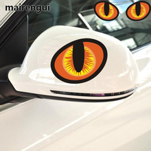 hot deal buy 3d simulation cat eye car car stickers creative personality rearview mirror car stickers reflective stickers scratch decorative