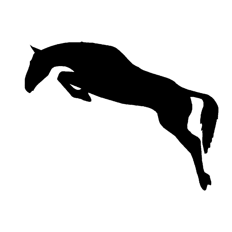 Hotmeini 14cm Car Sticker Horse Jumping Equestrian Car