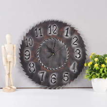 Creative Gear Wooden Wall Clock Vintage Industrial Style Electronic Home Decorative