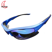 MOON Polarized Cycling Sunglasses Outdoor Sports Bicycle Glasses Bike Cycling Eyewear Goggles Sunglassese 3 Colors 5 Lens