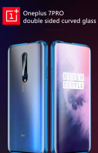 Oneplus 7Pro magnetic double tempered glass case  Oneplus 7 7Pro Full Body Cover Case  Case Front+Back double-sided 9H