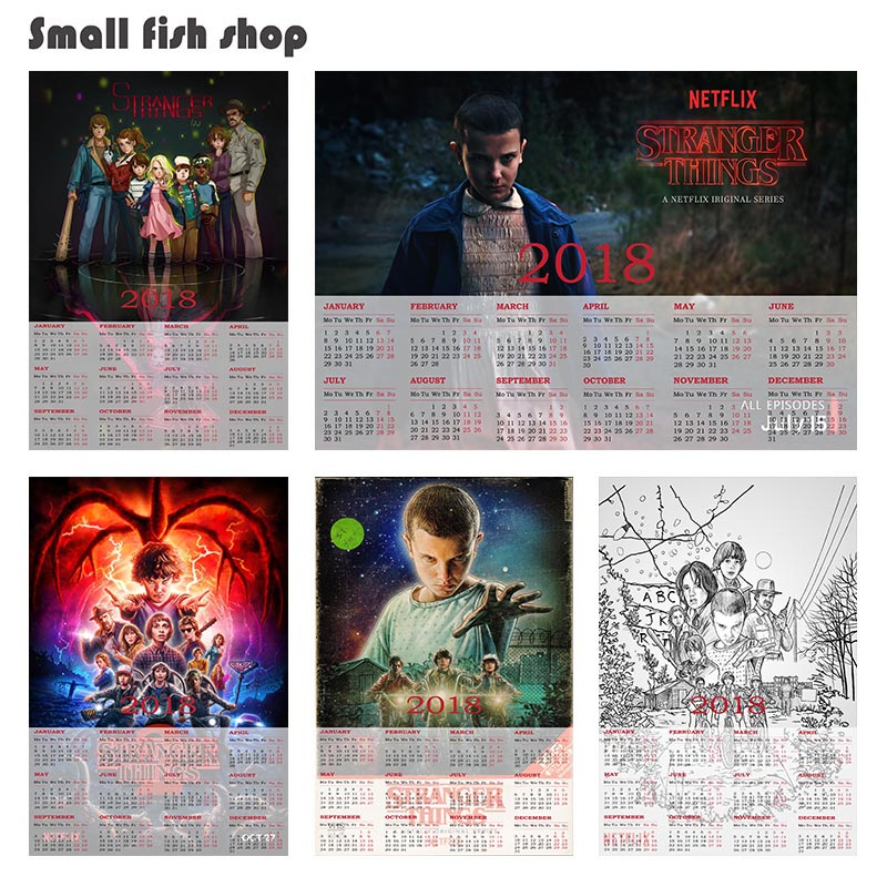 Stranger Things Collection Series B 2018 calendar poster Home Furnishing decorative white coated paper Wall Sticker Home Decora
