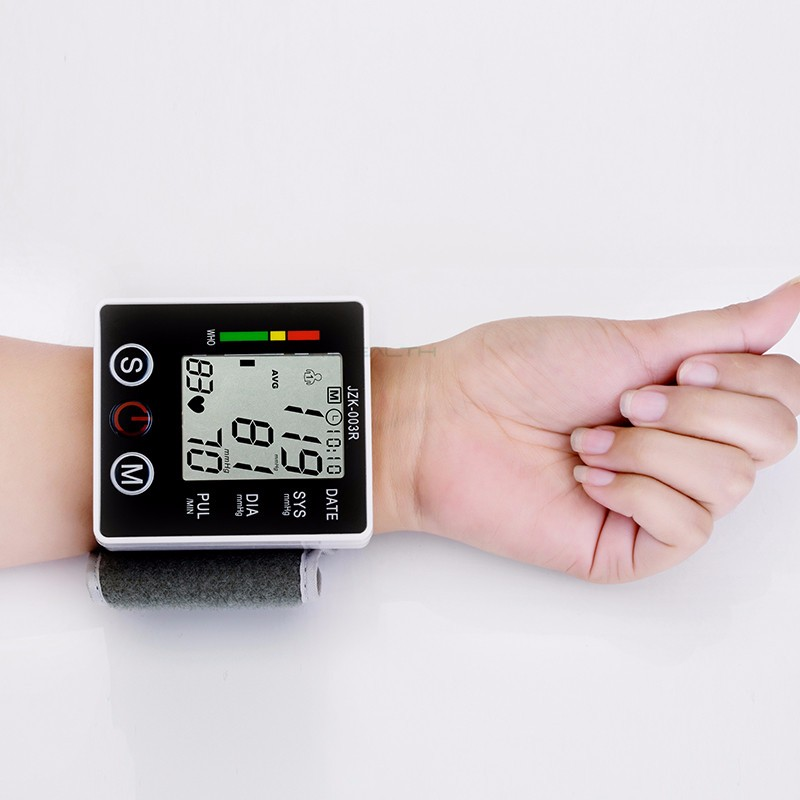 Portable Digital Blood Pressure Monitor Wrist Sphygmomanometer Tonometer Automatic Helth Care Device