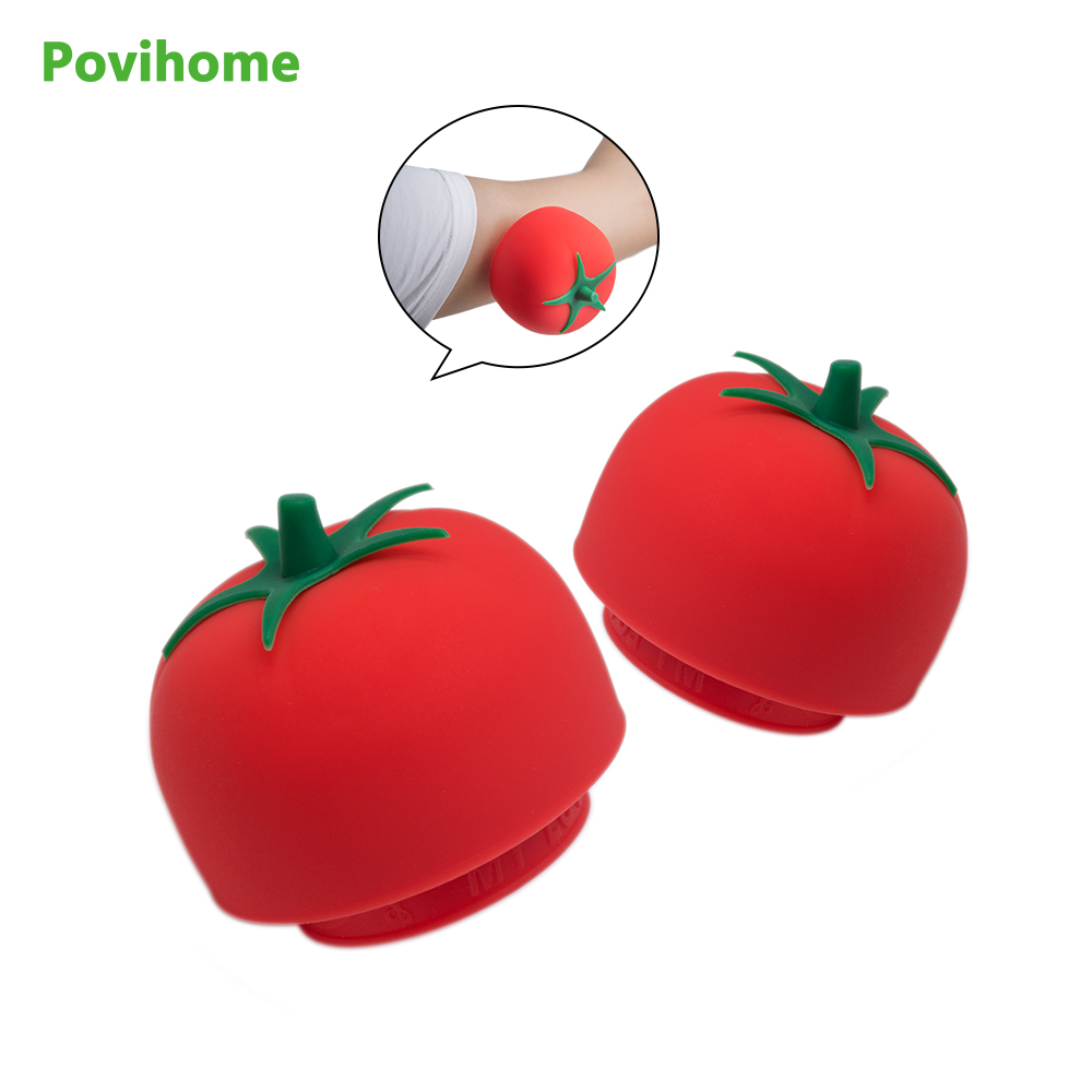 1Pcs Tomato Massage Cups Anti Cellulite Vacuum Suction Silicone Body Pain Relax Helper Cute Tomatoes Relieve Pain Cups C1326