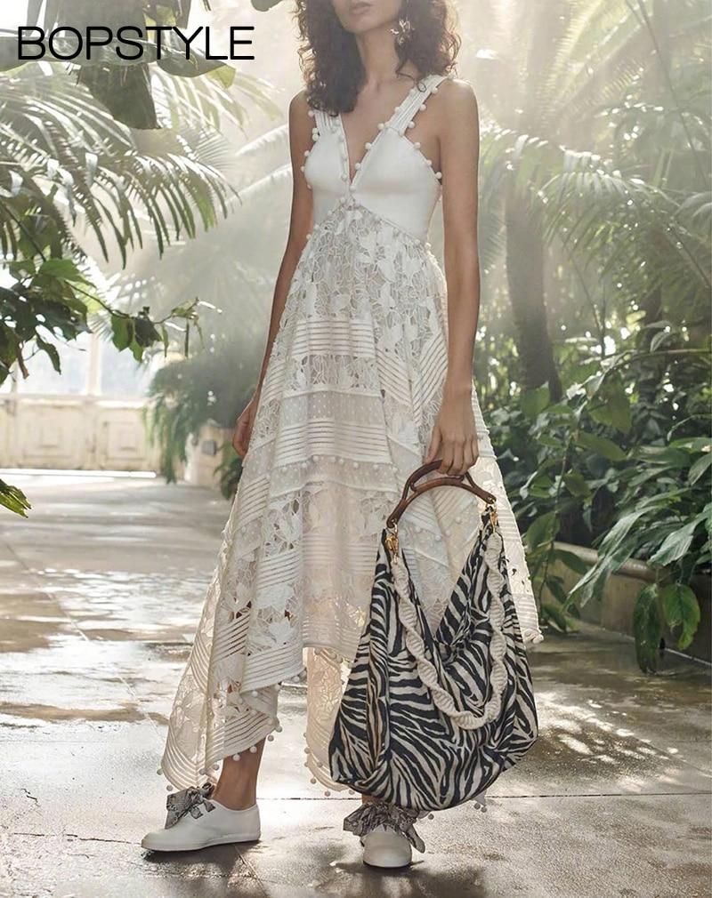 Neueste Sleeveless V ausschnitt Corsage Verziert Midi Kleid Mit Empire Taille & Taschentuch Saum & Floral Stickerei & Streifen Trim-in Kleider aus Damenbekleidung bei  Gruppe 1
