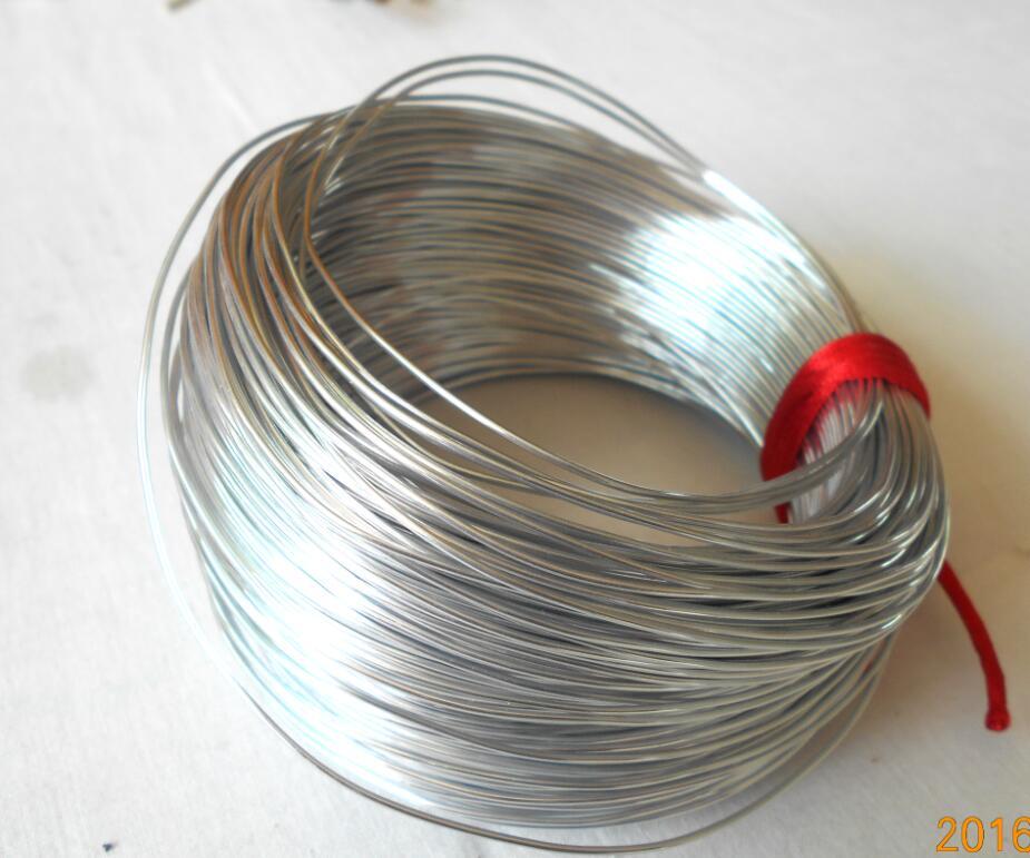 200 bucles de memoria de Tono Plata Pulsera De Alambre para abalorios 50-55mm de diámetro