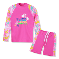 Plaj Kıyafeti İki Adet Kız Mayo Çocuk Erkek Çocuklar için Uzun Likra Mayo Yüzme Swim Suit Yüzme Takım Elbise Küçük Kız