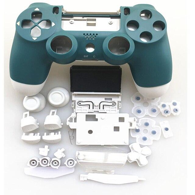 PS4 프로 컨트롤러 소니 플레이 스테이션 4 프로 JDM 040 JDS 040 Gen 2th V2 커버 알파인 그린 스킨 키트에 대 한 전체 설정 주택 케이스 셸