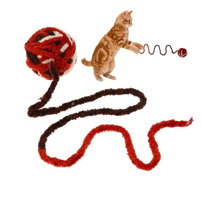 5.5 cm Palla di Lana Giocattolo Pet Dog Cat Kitten Teaser Giocare Giocare Chew C