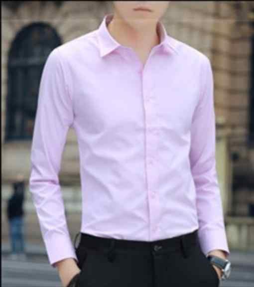 Белая мужская рубашка с длинным рукавом, тонкая, свободная, однотонная, профессиональная, деловая, рабочая, белая, мужская, костюм, рубашка